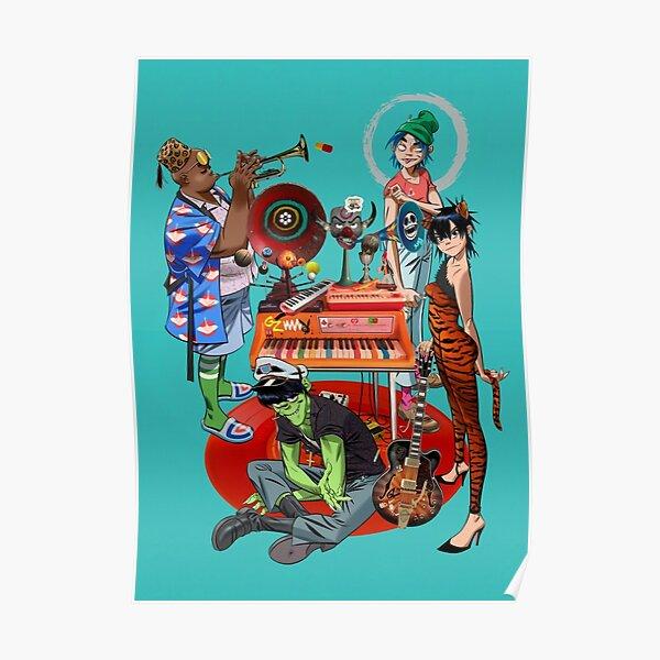 Gorillaz Meilleur Anime Poster Poster