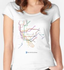 new york subway Women's Fitted Scoop T-Shirt