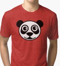 Panda Bear Face  Tri-blend T-Shirt