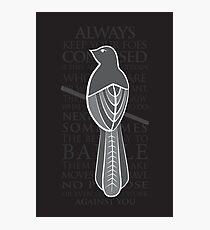 Baelish Sigil - Quote Photographic Print