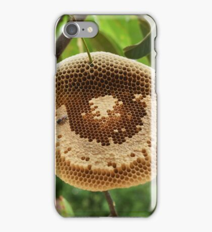 Bees on honycomb iPhone Case/Skin