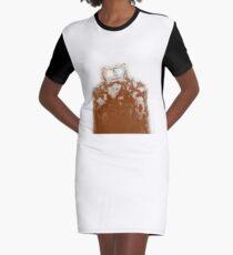 Muscular Cat Graphic T-Shirt Dress