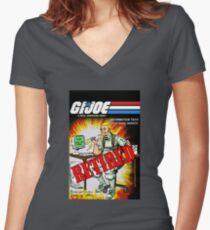 GI Joe Codename Website Women's Fitted V-Neck T-Shirt