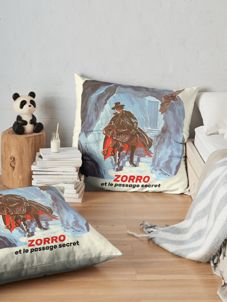 Alternate view of Zorro, the masked vigilante ... Floor Pillow