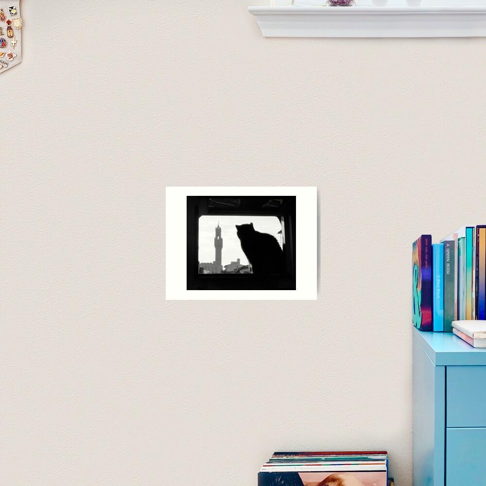 Silhouette, Florence Art Print