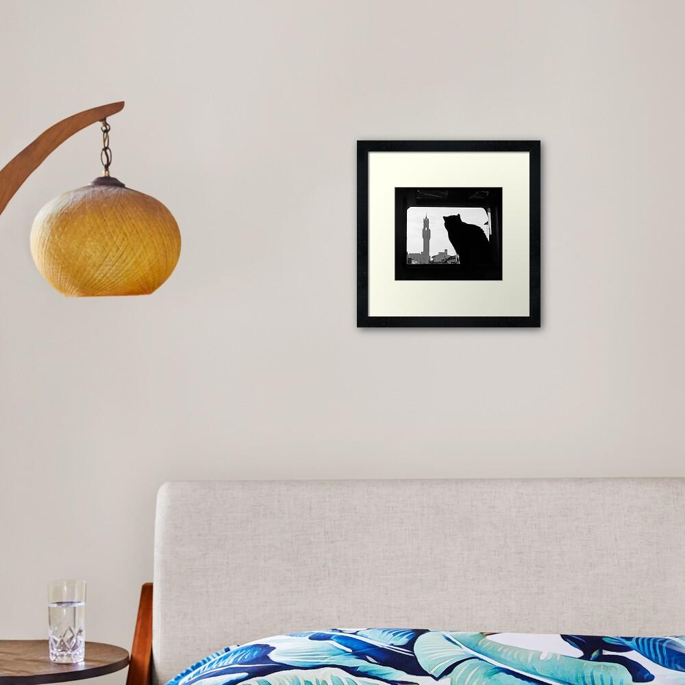 Silhouette, Florence Framed Art Print