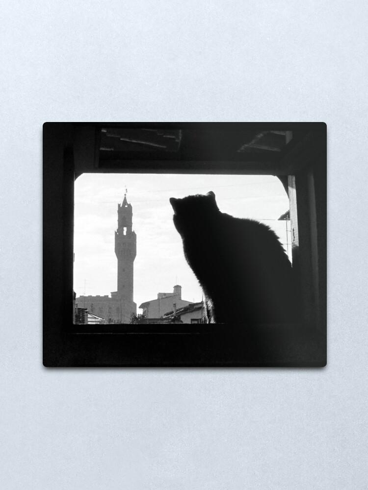 Alternate view of Silhouette, Florence Metal Print