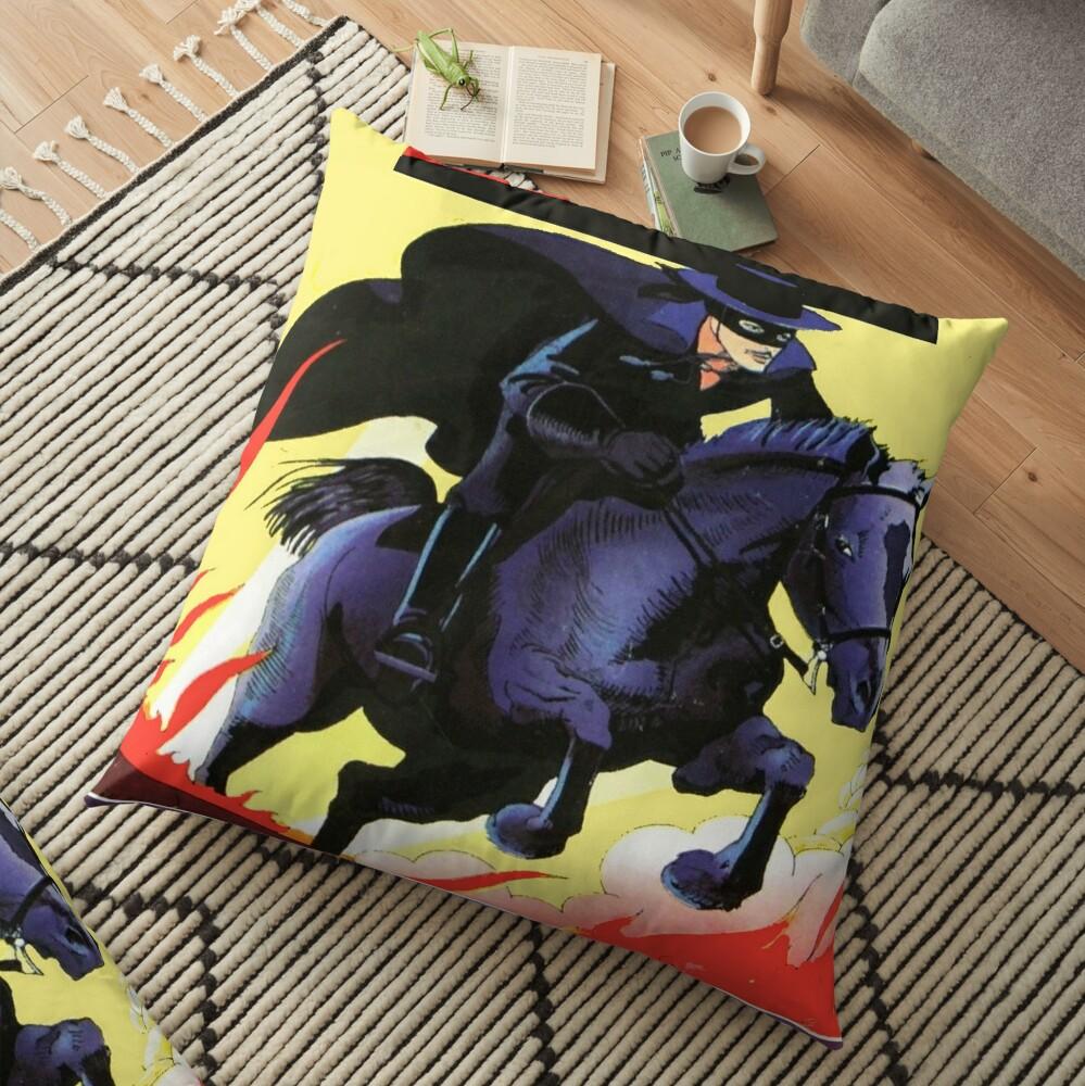 Arrival of Zorro is ... Floor Pillow