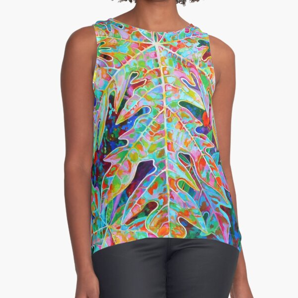 Sunrise Solo Papaya Sleeveless Top
