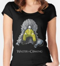 Walter is Coming (Breaking Bad x Game of Thrones) Women's Fitted Scoop T-Shirt