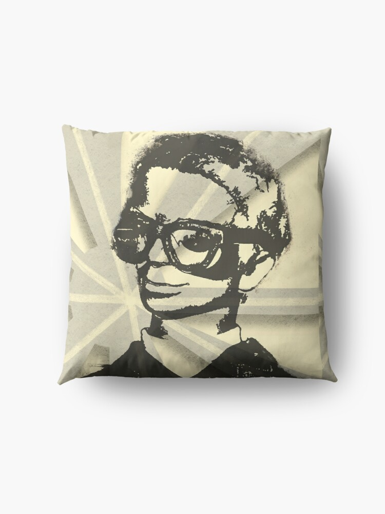 Alternate view of Thunderbirds Brains Spray paint retro style Floor Pillow