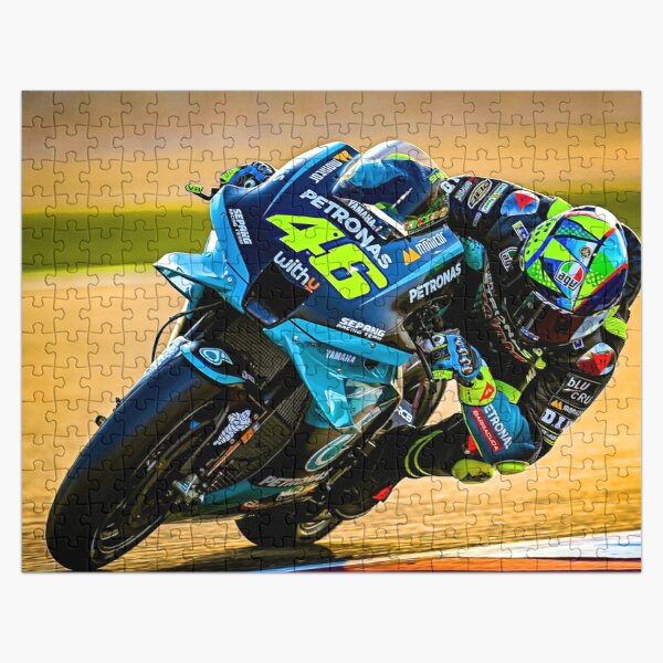 Valentino Rossi racing his 2021 MotoGP motorcycle Jigsaw Puzzle