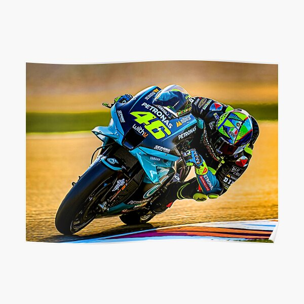 Valentino Rossi pilote sa moto MotoGP 2021 Poster
