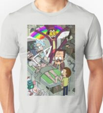 Rick and Morty meet Superjail Unisex T-Shirt