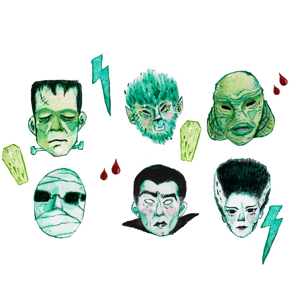 Universal Monsters by Matchachalatte