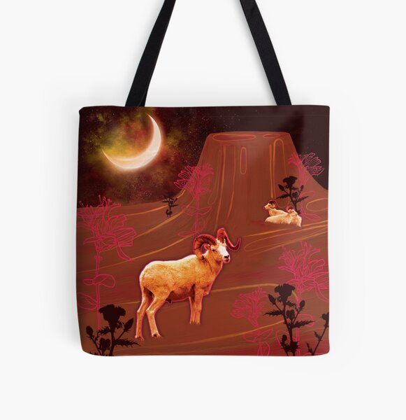 Aries Moon Dreamscape All Over Print Tote Bag