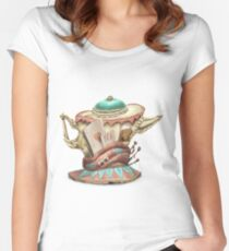 Tea hat from M. Hatter Women's Fitted Scoop T-Shirt