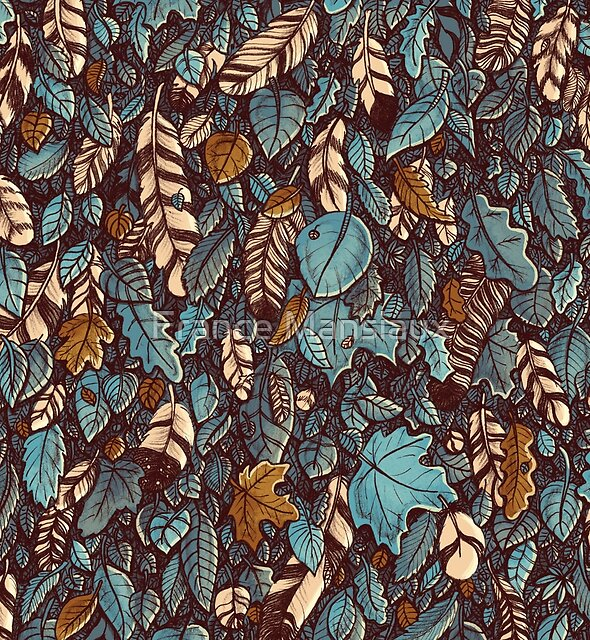 Leaves color blue by France Mansiaux