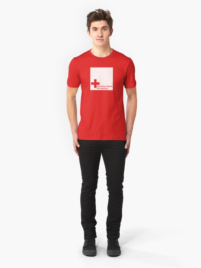Alternate view of Helvetica 65 medium /// Slim Fit T-Shirt
