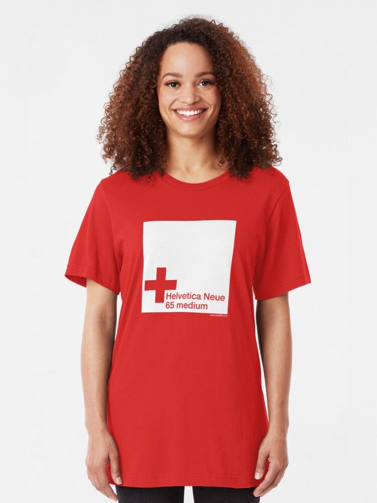 Alternate view of Helvetica 65 medium /// Slim Fit T-Shirt