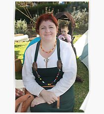 Lady at Medieval Fayre Poster