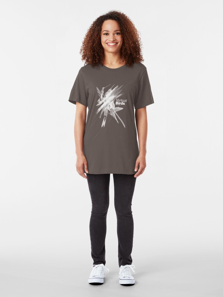 Alternate view of Virtual birds /// Slim Fit T-Shirt