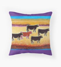 Red Angus Throw Pillow