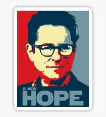 JJ Abrams Hope - In JJ We Trust Sticker