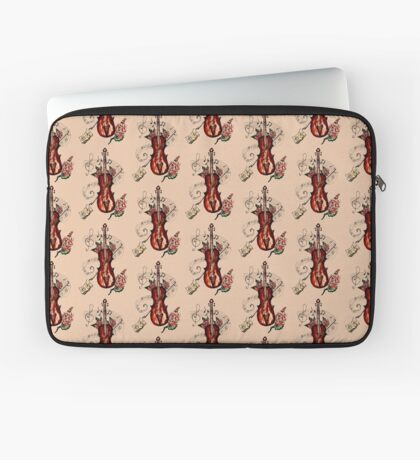 Violine mit Noten 2 Laptoptasche