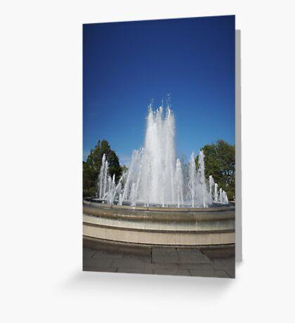 Dancing Water (Copenhagen) Greeting Card
