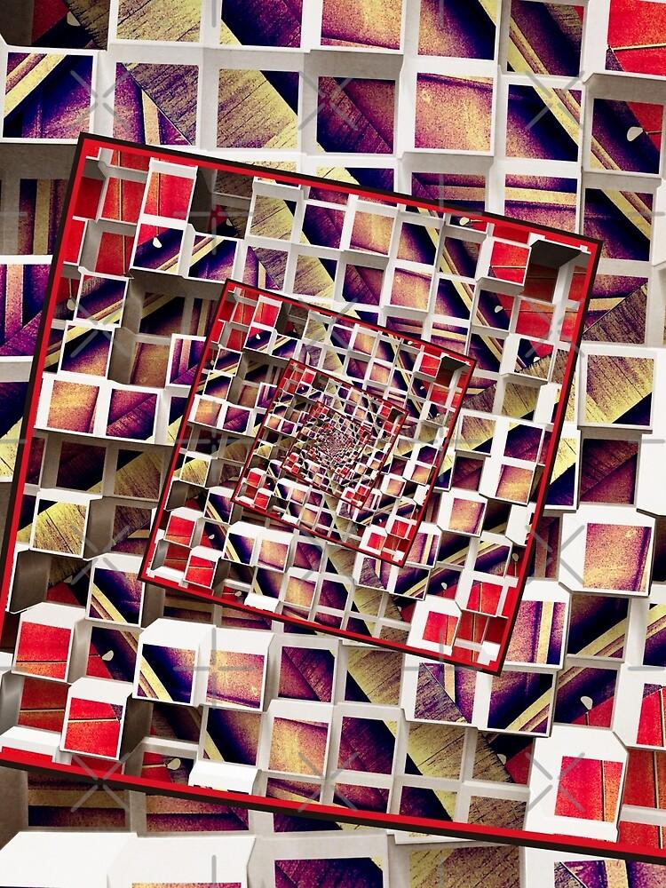 Infinite Rotating 3D Cubes by perkinsdesigns