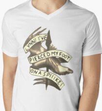 Lynn! I've Pierced My Foot on a Spiiike! Men's V-Neck T-Shirt