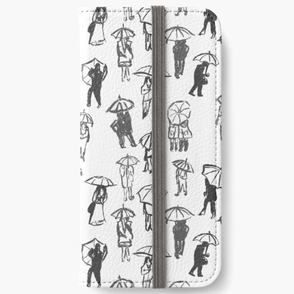 Shelter From The Rain Pattern iPhone Wallet