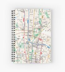 Map manhattan Spiral Notebook