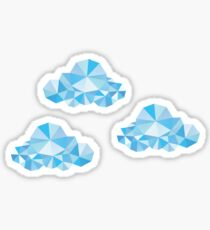 Diamond Clouds in the Sky Pattern Sticker
