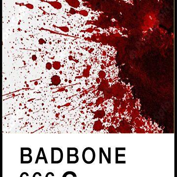 Bad Bone (Pantone) Blood 666 by bexsimone