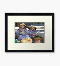 Market Time Framed Print