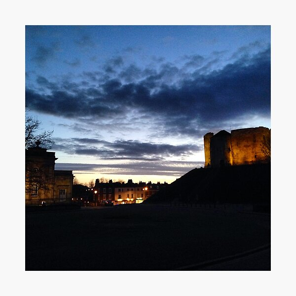 Clifford's Tower at Night Photographic Print