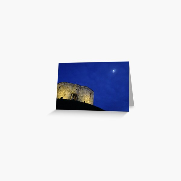 Clifford's Tower and Moon Greeting Card