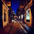 The Shambles at night by Robert Steadman