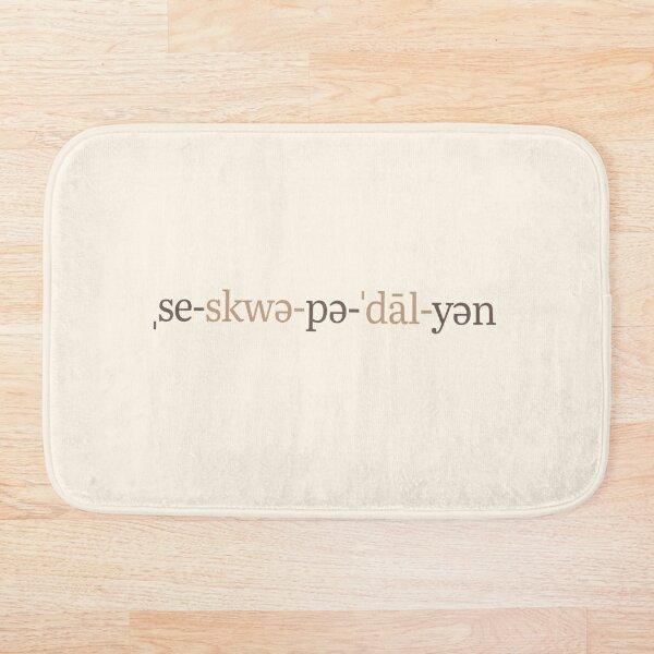 Sesquipedalian Phonetic Notation (Latte Edition) Bath Mat