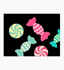 Cute Candy Stripes Photographic Print