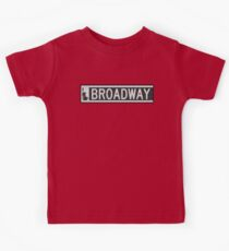 BROADWAY DECO SWING NYC Street Sign  Kids Tee
