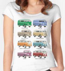 VW T1 Samba range Women's Fitted Scoop T-Shirt