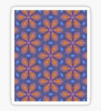 Knitted Flowers Pattern Sticker