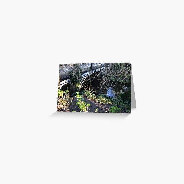 Bridge. Pavilion Gardens. Buxton. Greeting Card