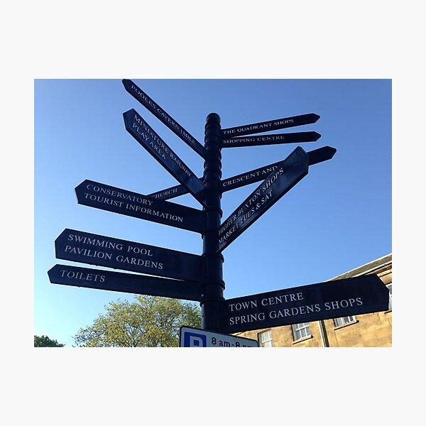 Signpost. Buxton. Photographic Print