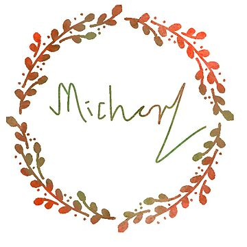 Michael Watercolour Wreath by brightestwitch