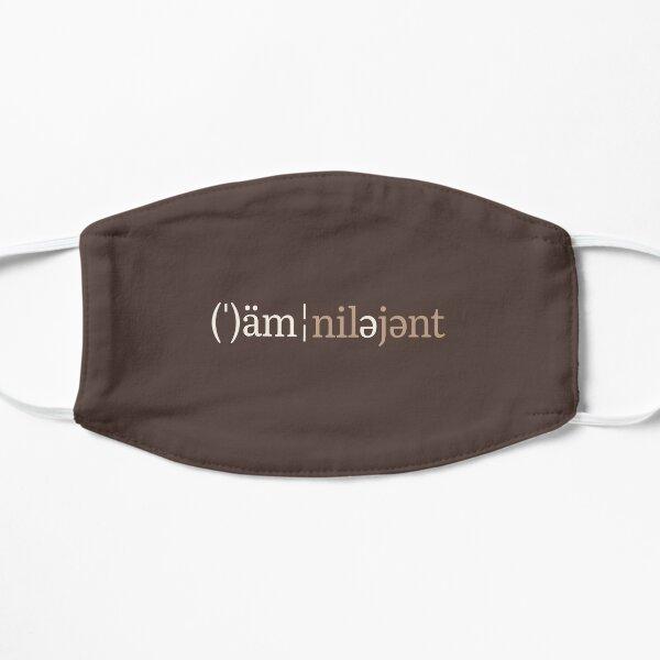 Omnilegent Phonetic Notation (Chocolate Edition) Flat Mask