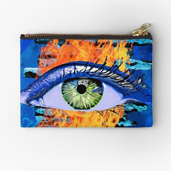 Legakulie Auge Feuer Mauer blau Täschchen